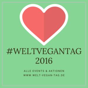 Sei dabei mit dem Hashtag #WeltVeganTag + Jahreszahl!