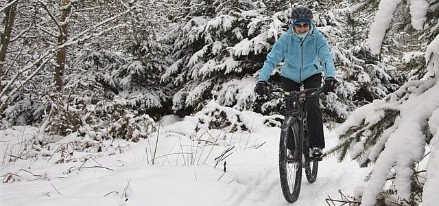 Fahrrad, Winter, Schnee