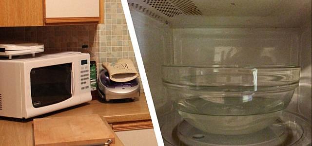 mikrowelle reinigen mit hausmitteln das musst du beachten. Black Bedroom Furniture Sets. Home Design Ideas