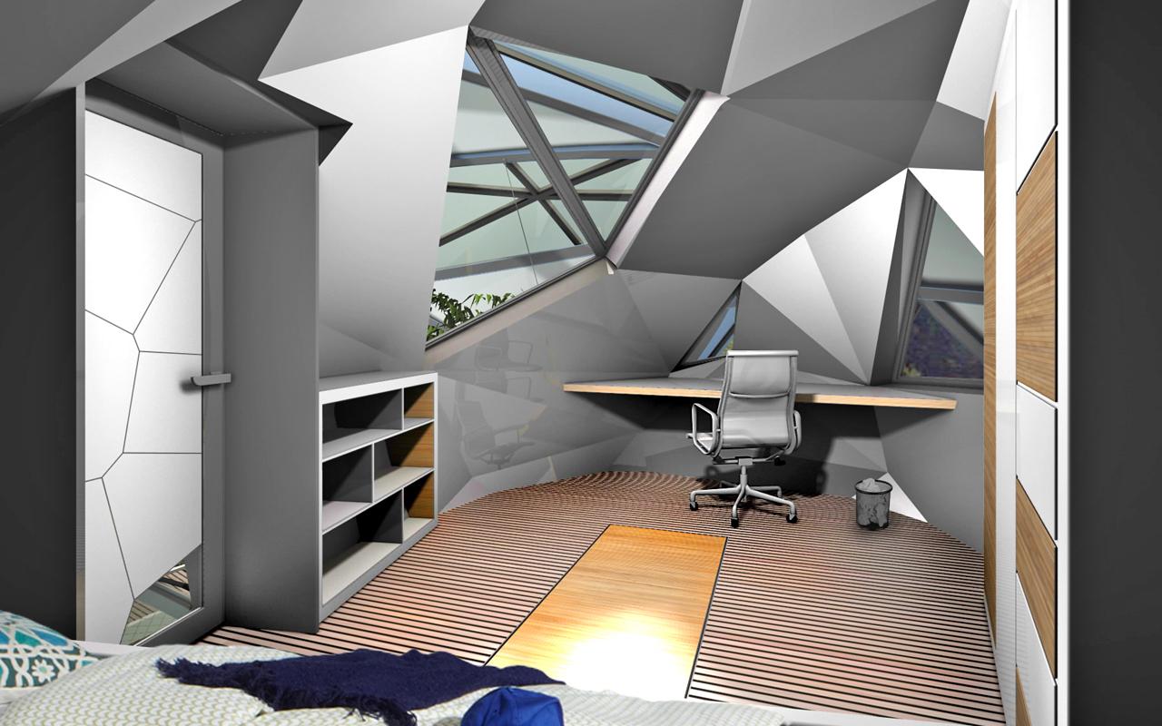 Öko-Haus exo/nat: Schlafzimmer