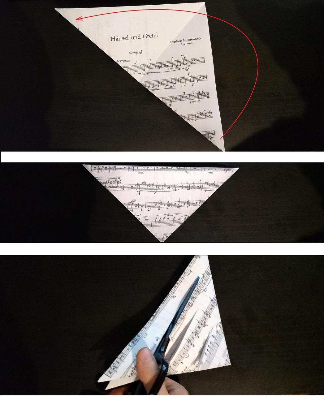 Origami-Weihnachtsstern DIY