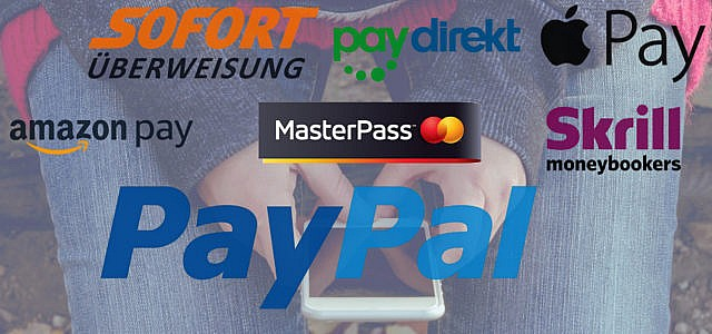 PayPal-Alternativen Sofortüberweisung AmazonPay ApplePay Skrill
