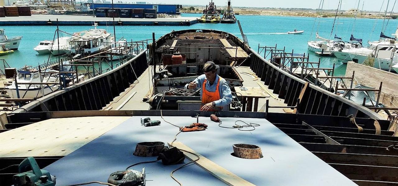 """""""Brigantes""""-Projekt: emissionsfreier Transport mit Segelschiff - Restaurierung Segelschiff"""