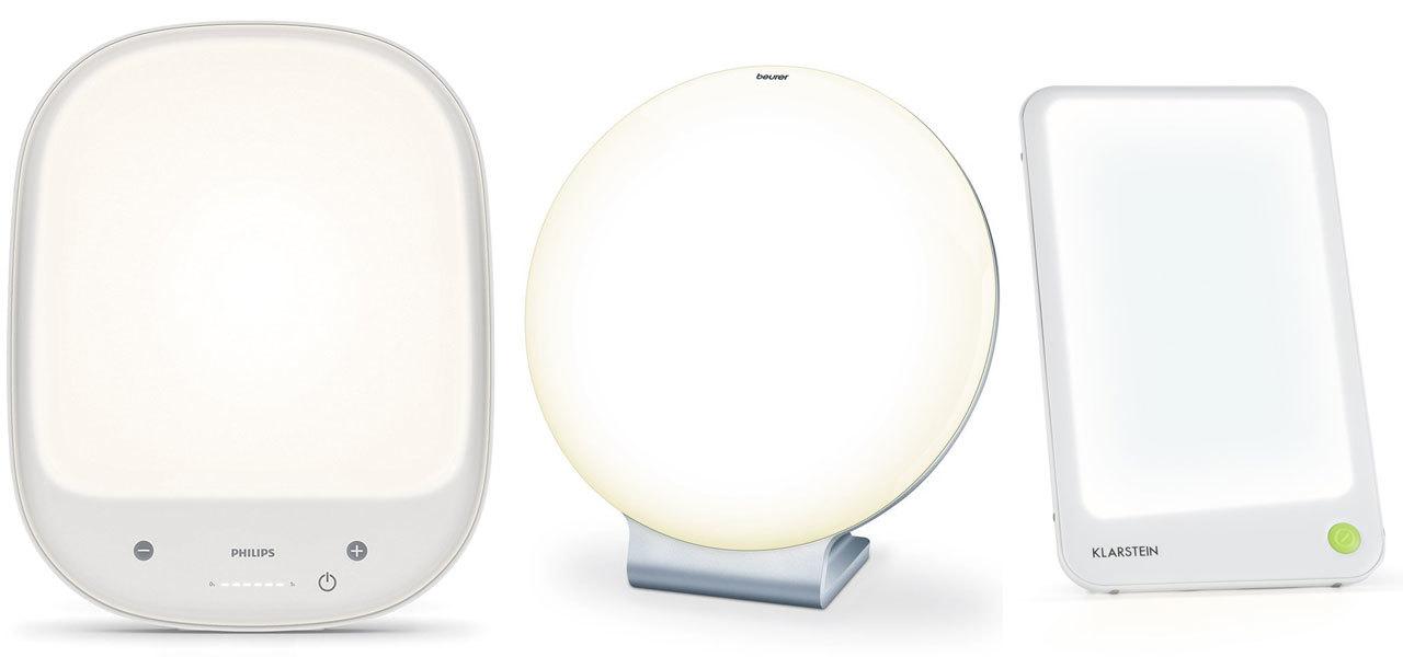Tageslichtlampen (von links nach rechts): Philips, Beurer, Klarstein