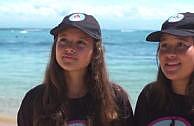 Kampf gegen Plastikmüll: Zwei Schülerinnen setzen Plastiktüten-Verbot auf Bali d