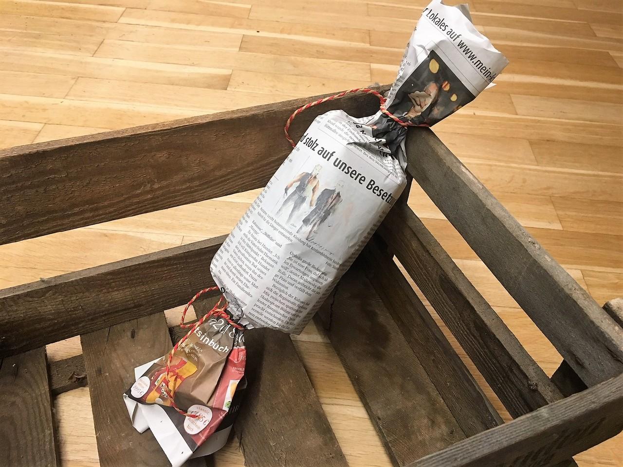 Guter Tipp: Zeitungspapier als Verpackung