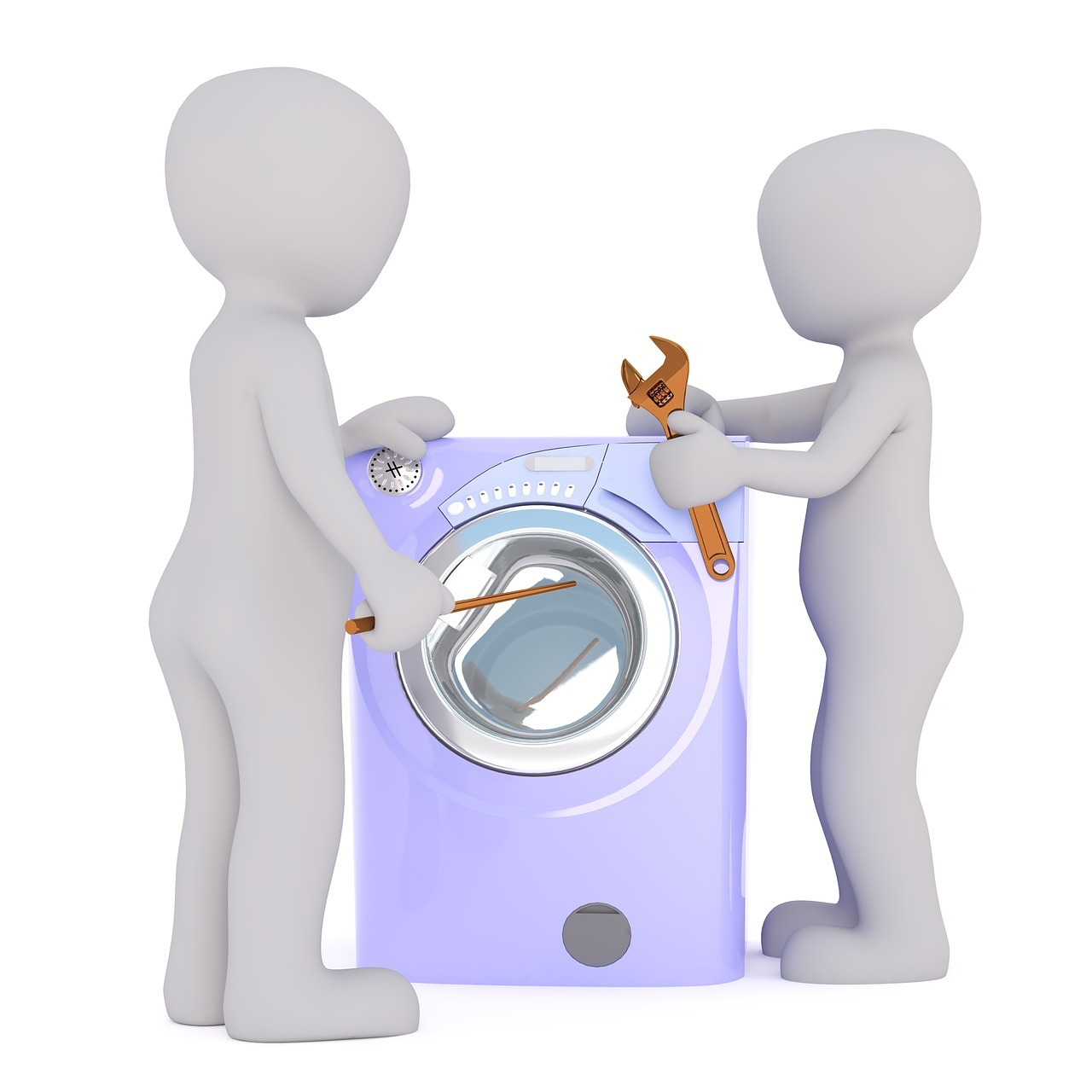 Mit sachkundigen Freunden ist es einfacher, eine Waschmaschine zu reparieren