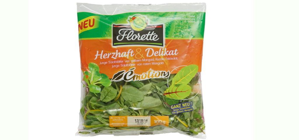 Fertig Salat in Tüten steckt voller Keime