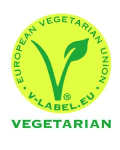 Das V-Label für vegetarische Produkte.