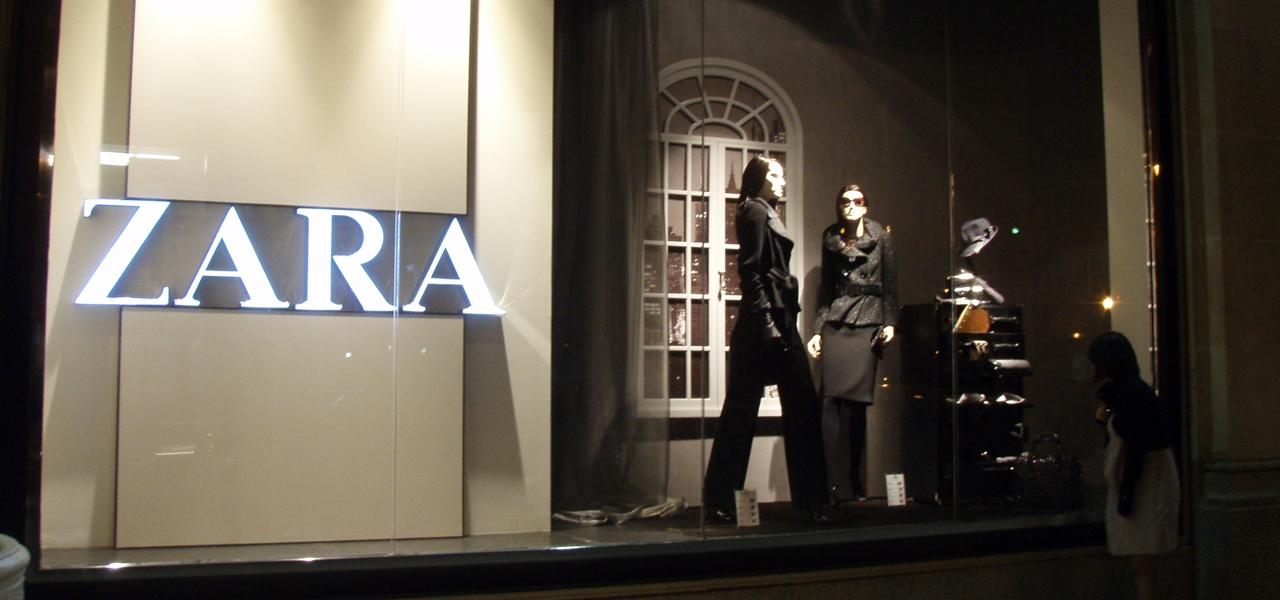 Zara Filiale Etiketten Botschaft