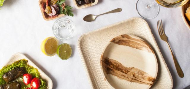 Palmblattteller: Einweggeschirr aus Palmblättern