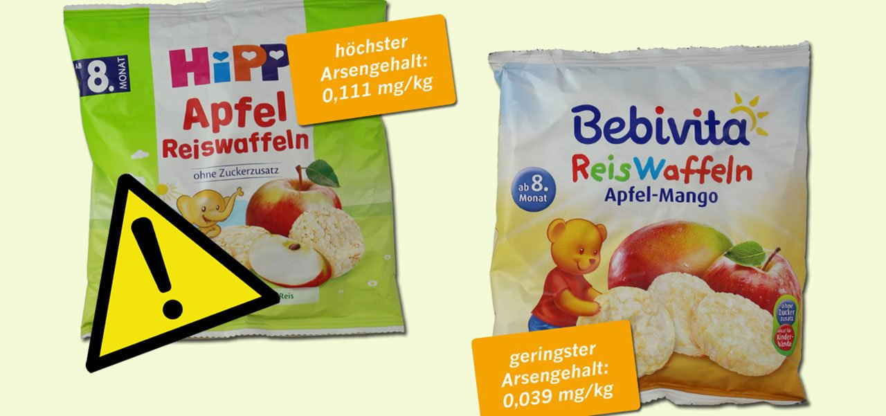 Foodwatch Reiswaffeln Reisbrei Arsen