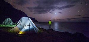 Mit dem Zelt gelangt man an besondere Orte abseits der Touristenrouten