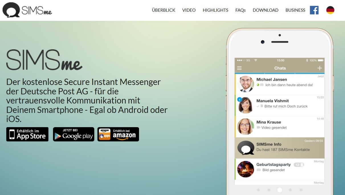 Post-Messenger SIMSme