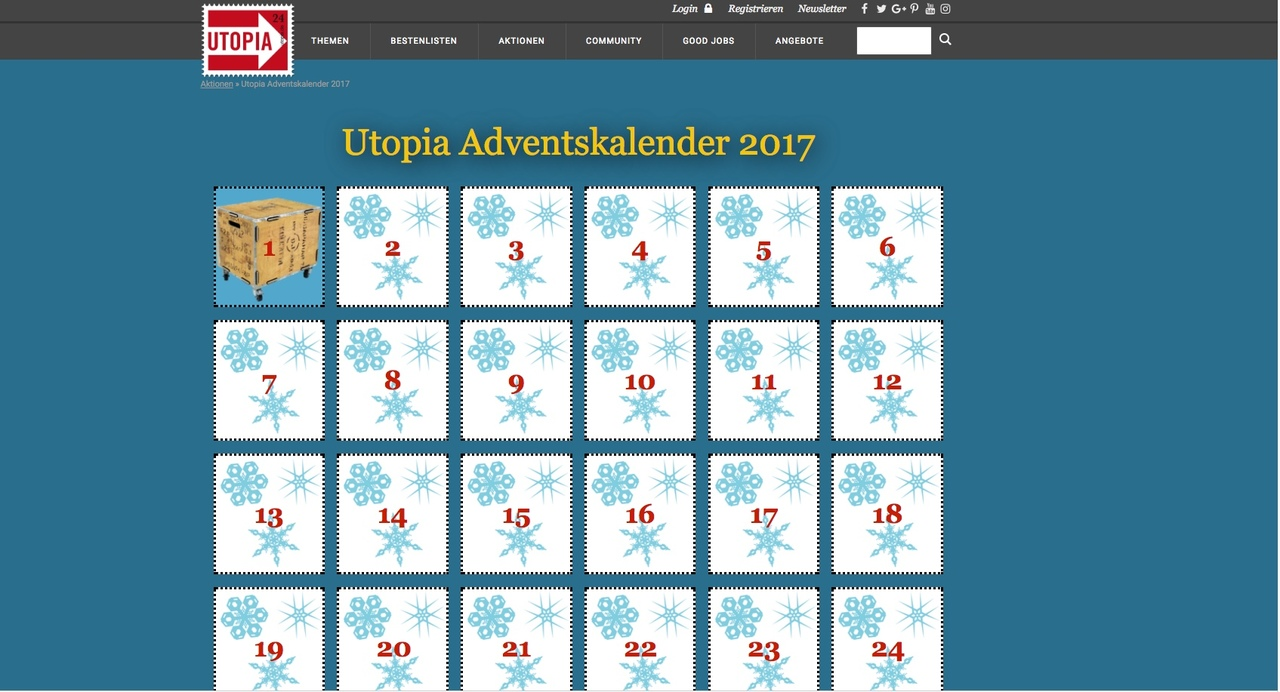 online adventskalender 2017 kostenlose gewinnspiele voller guter dinge. Black Bedroom Furniture Sets. Home Design Ideas