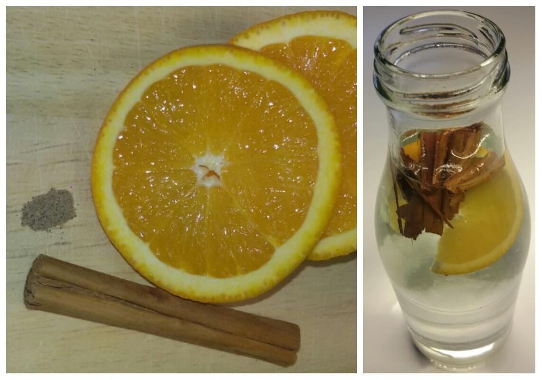 Wohltuend im Winter ist das Infused Water mit Orange, Zimt und Kardamom.