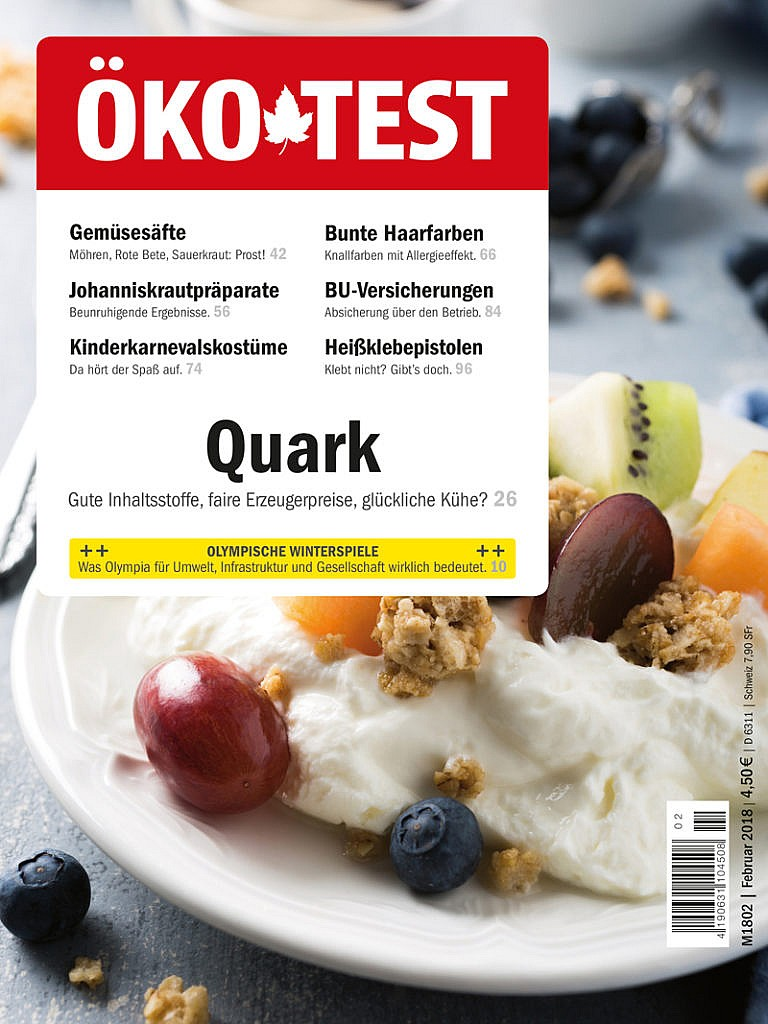 Öko-Test Ausgabe 02/2018