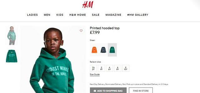 H&M Werbung Rassismus