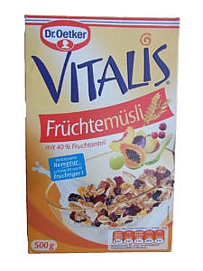 Vitalis Früchtemüsli