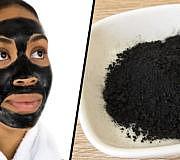 Aktivkohle Gesichtsmaske schwarze Maske