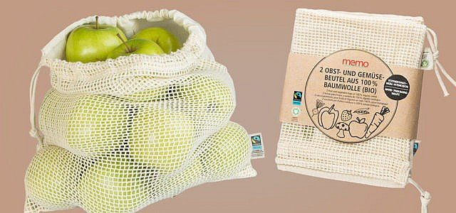Fairtrade GOTS Baumwollbeutel memo