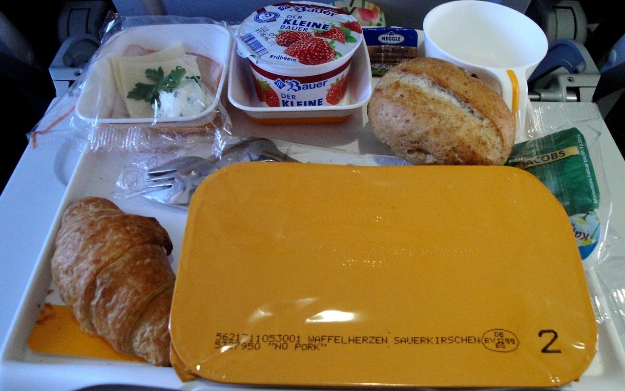 Essen Flugzeug Plastik