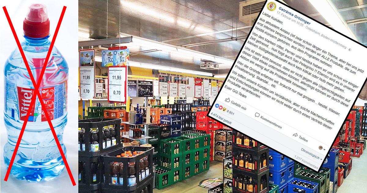 Dieser Getränkemarkt boykottiert Nestlé – und wird berühmt