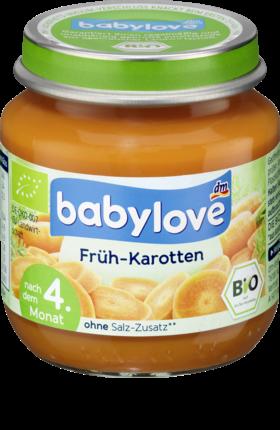 Babybrei Babylove Früh-Karotten von dm