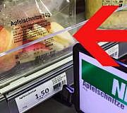 Facebook Shitstorm Supermarkt Apfelschnitze Apfeltüte