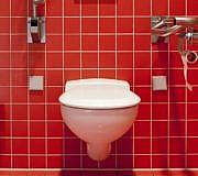 Eine verstopfte Toilette bekommst du mit Hausmitteln wieder frei.