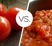 Tomaten roh gekocht