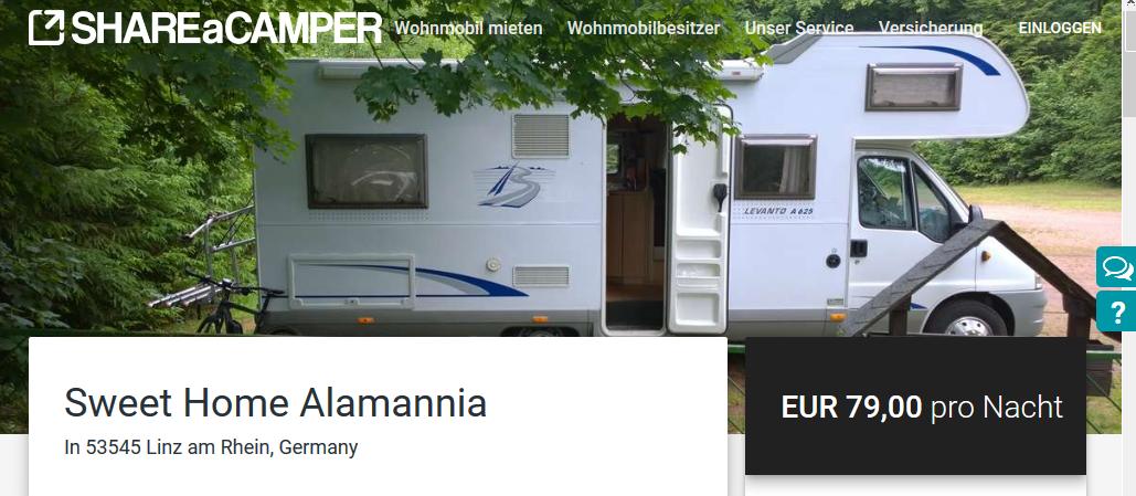 Wohnmobil mieten: ShareaCamper