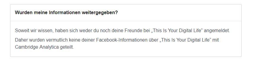 Facebook Daten Skandal