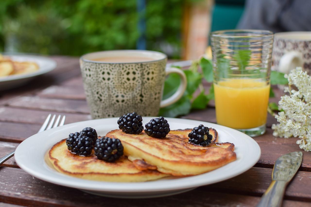 Amaranthpancakes als leckeres Frühstück.