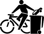 Fahrradfahren statt Autofahren.