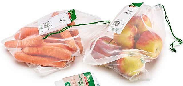 Plastik Supermarkt Spar Gemüsenetz, Obst