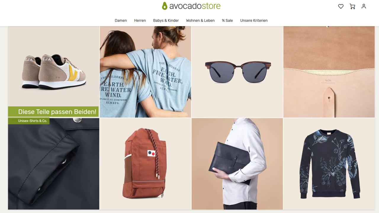 Faire Mode findest du zum Beispiel bei Avocadostore