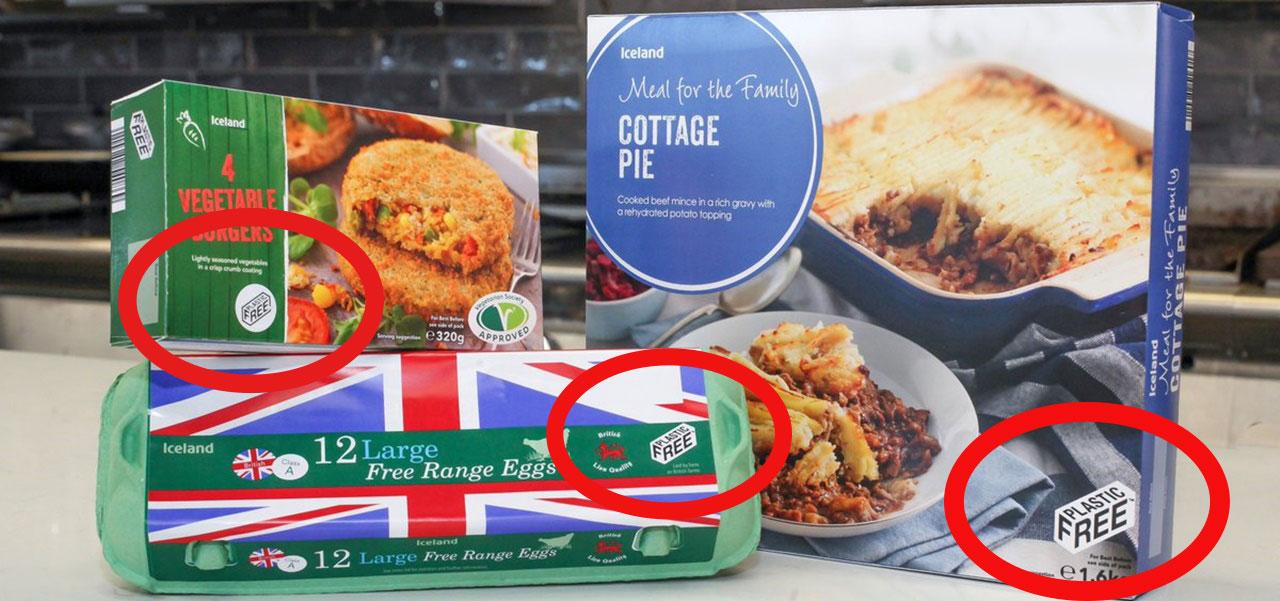 Plastik Supermark Iceland Foods