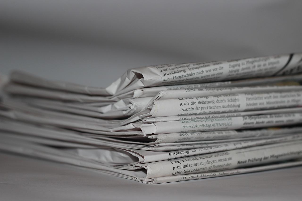 Tageszeitungen werden oft aus recyceltem Papier hergestellt