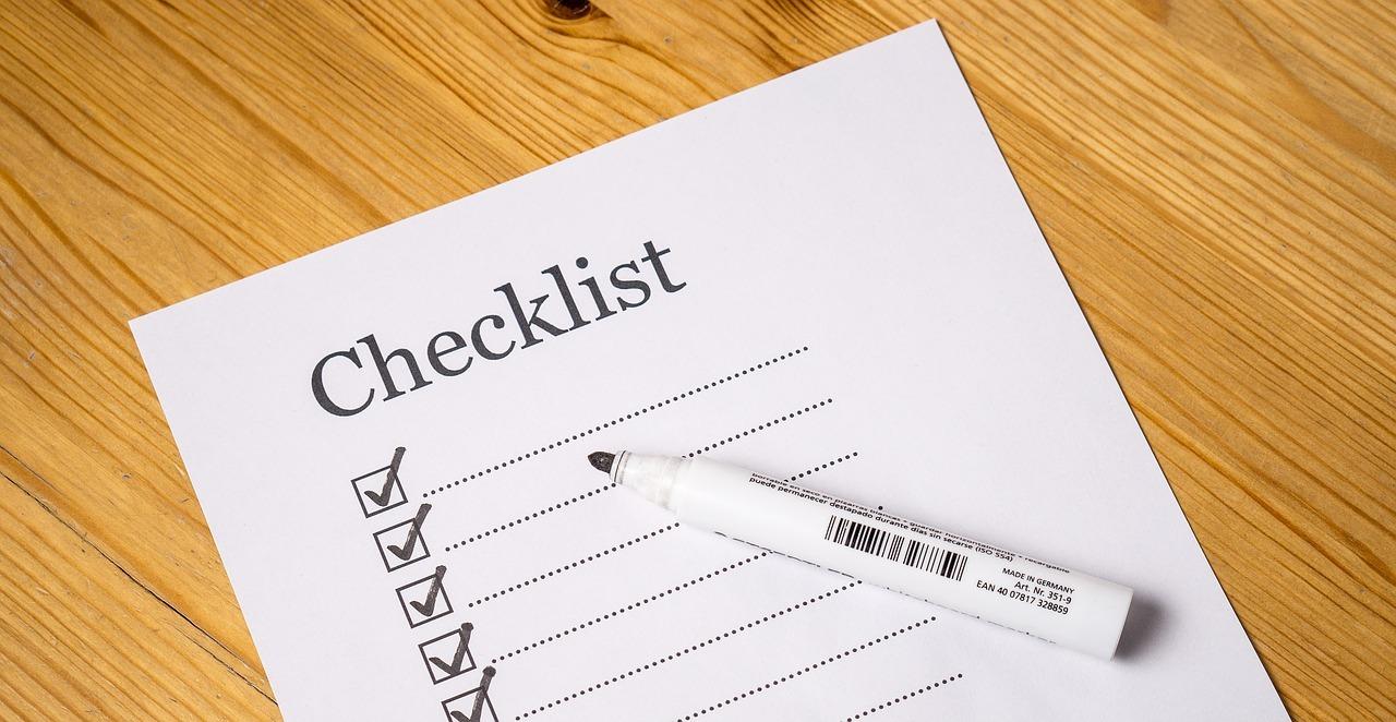 Checkliste - das muss mit