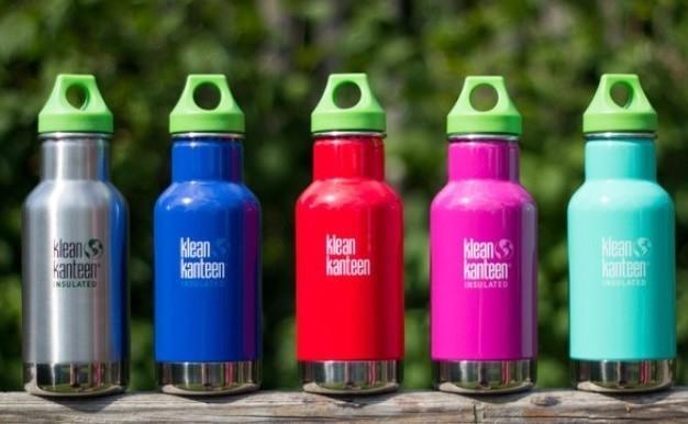 Klean Kanteen-Flaschen sind aus Edelstahl und sehr robust