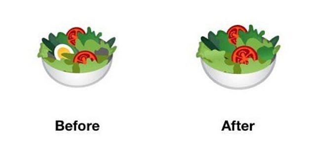 Google Emoji Salat Ei