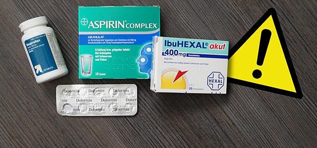 Schmerzmittel Warnhinweis: Paracetamol, Ibuprofen und Aspirin