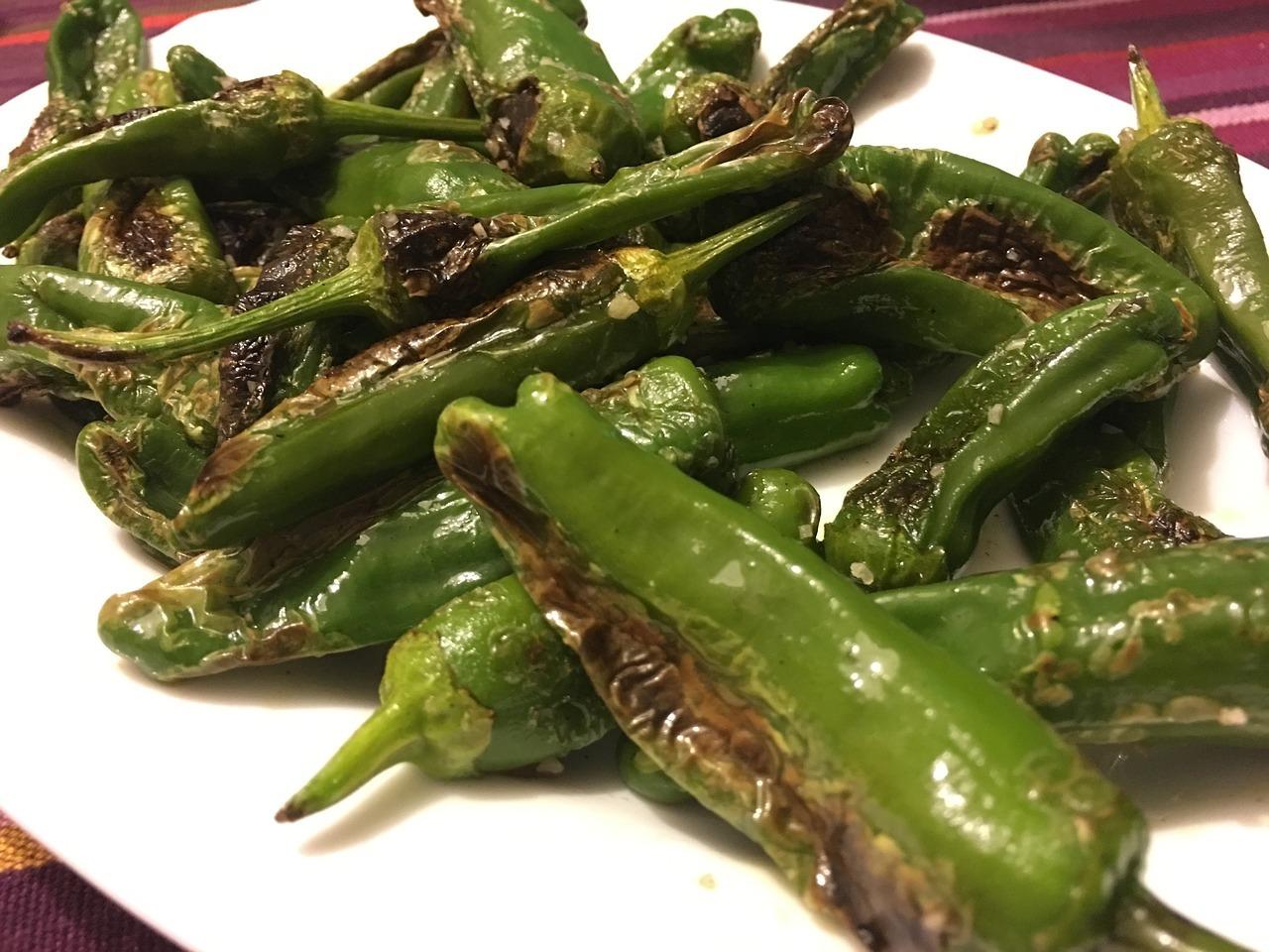 Die kleinen grünen Pimientos sind ein gesunder und schnell gemachter Snack.