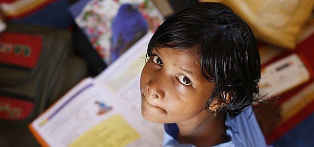 Indien Glück Schule Schulfach