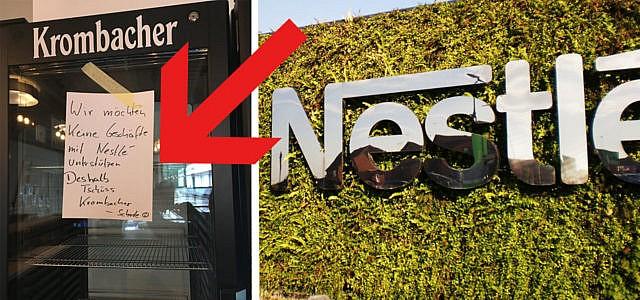 Krombacher Nestle Boykott