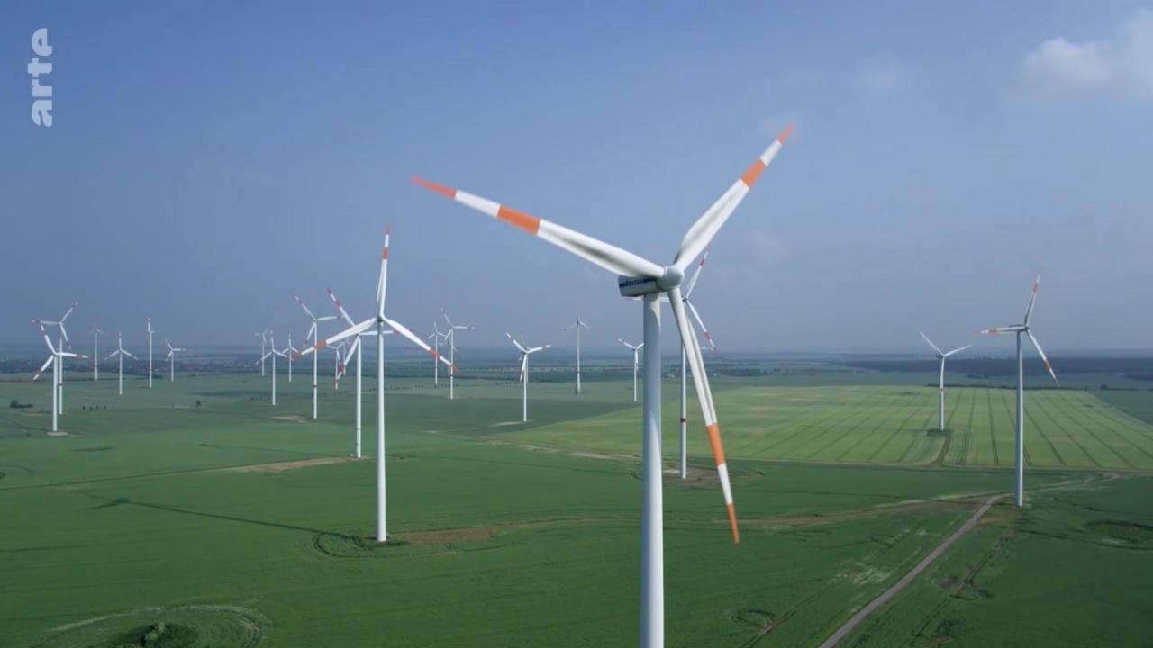 Arte-Dokumentation über Windkraftanlagen für Ökostrom