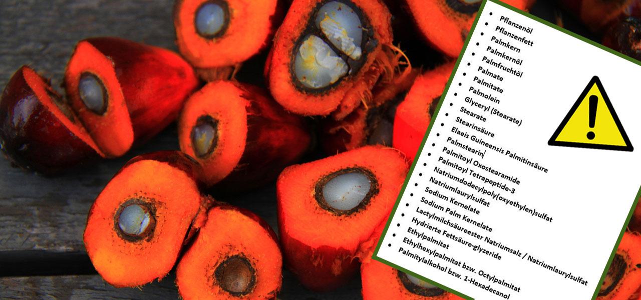 Palmöl in Kosmetik und Lebensmitteln: 25 heimtückische Bezeichnungen für Palmöl