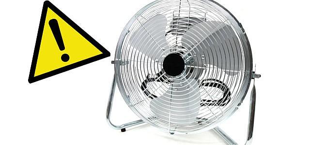 Ventilator nicht benutzen