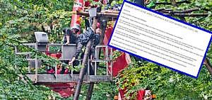 Hambacher Forst Hebebühne